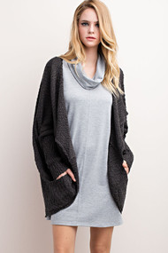 The Eve Cardigan- Charcoal