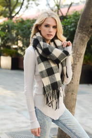 Buffalo  Checkered Tassel Scarf