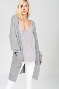 The Charlie Cardigan- Heather Grey