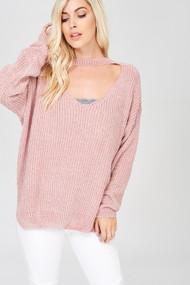 The Hayden Sweater- Twig Pink