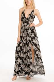 Henna Rose Maxi Dress