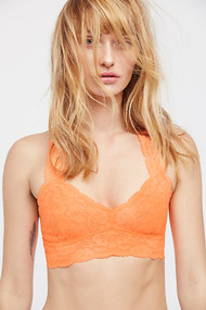 Free People Lace Racerback Bralette- Neon Orange