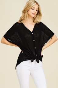 The Freya Top-Black