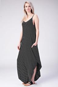 The Talia Maxi Dress- Black