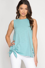 The Evelyn Tank- Seafoam Green