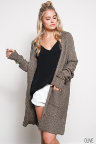 The Camilla Cardigan- Olive