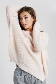 The Lacie Sweater- Light Pink