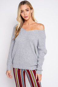 The Camryn Sweater- Grey