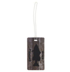 Luggage Tag, Wood Gone Fishing