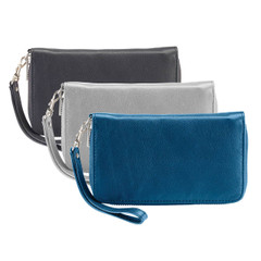 RFID-Blocking Fine Leather Wristlet