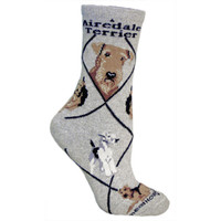 Wheel House Airedale Terrier Socks