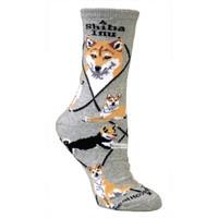 Wheel House Shiba Inu Socks