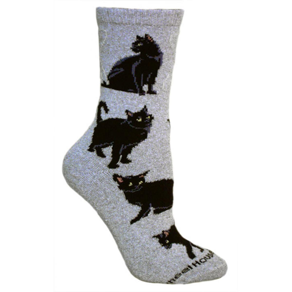 Black Cat Socks Human Shop Breed Specific Socks