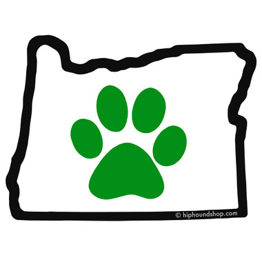Oregon Paw Sticker