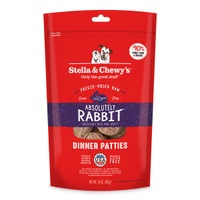 Stella & Chewy's Freeze-Dried Rabbit Patties for Dogs