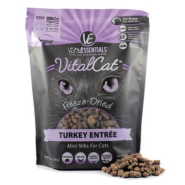 Vital Essentials VitalCat Freeze-Dried Turkey Entree - Mini Nibs