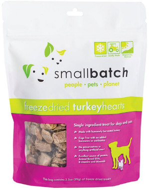 Small Batch Freeze Dried Turkey Heart Treats