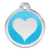 Red Dingo Glitter Tag Heart