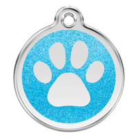 Red Dingo Glitter Tag Paw