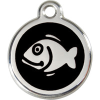 Red Dingo Enamel Tag Fish