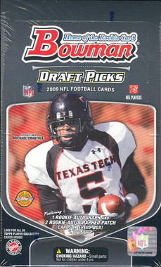2009 Bowman Draft Picks Football Jumbo HTA Hobby Box