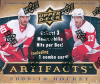 2009/10 Upper Deck Artifacts Hockey Hobby Box