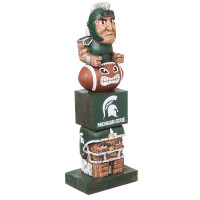 Michigan State Spartans Tiki Team Totem Garden Statue