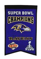 Baltimore Ravens Super Bowl Champs Banner