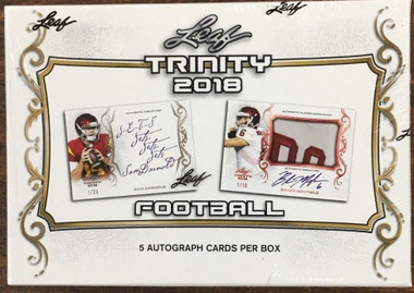 2018 Leaf Trinity Football Hobby Box