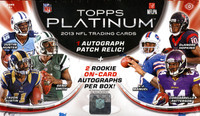 2013 Topps Platinum Football Hobby Box