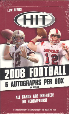 2008 Sage Hit Low Series Football Hobby Box