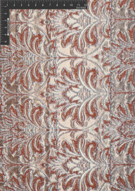Damask Glam Polyester Metallic Jacquard Designer Damask Fabric by the Yard
