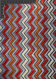 Insignia Polyester Viscose Blended Velvet Burnout Designer Chevron Fabric by the Yard