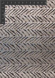 Arrow Lurex Polyester Blended Novelty Metallic Jacquard Designer Chevron Fabric by the Yard