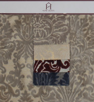 Dawn Hanger Polyester Rayon Blended Novelty Velvet Burnout Designer Damask Fabric by the Yard