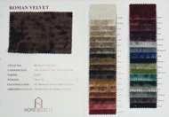 Roman Velvet Color Card Polyester Rayon Blended Velvet Solids Designer Solid Fabric by the Yard