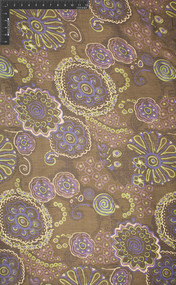 Coney Island - 100% Silk Printed Crinkle Georgette Fabric - HUA/053-CRG