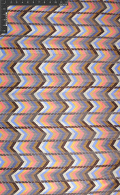 Jaz Zag 100% Silk Printed Striped Satin Fabric - HUA/003-STRP
