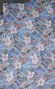 Aloha 100% Silk Printed Georgette Fabric - HUA/009-PG