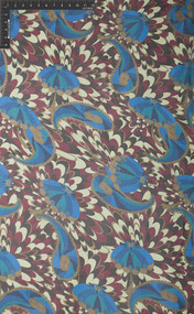 100% Silk Printed Georgette Fabric - Carousel Spin (HUA/022-G)