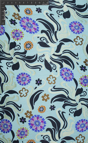 Girlometry Silk Rayon Satin Burnout Abstract Apparel Fabric by the Yard