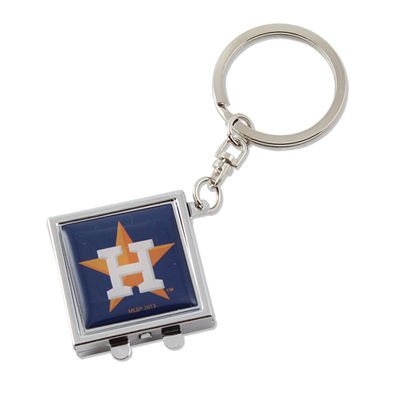 Houston Astros Compact Mirror Keychain
