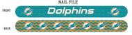 Miami Dolphins Nail File