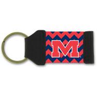 University of Mississippi Chevron Keychain