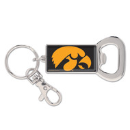 University of Iowa Bottle Opener Metal Keychain (WC)