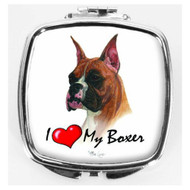 I Love My Boxer Compact Mirror