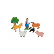 Wooden Farm Characters Gift Bag by The Toy Workshop