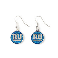 New York Giants Glitter Dangle Earrings