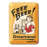 Free Beer! Tomorrow Metal Switch Plate Cover
