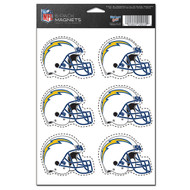 San Diego Chargers 6-Pack Magnet Set